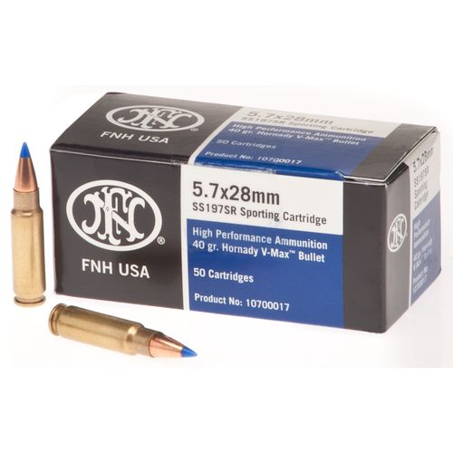 FN 5.7 x 28mm 40-Grain V-Max Cartridges