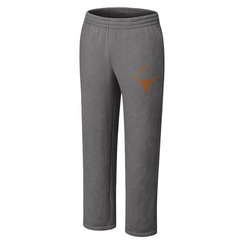 Nike Men's University of Texas Classic Fleece Open Hem Pant