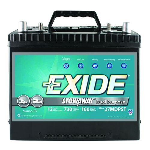 Exide Stowaway Dual-Purpose Marine Battery