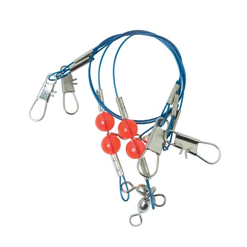 Lazer Sharp Steel-Wire Single-Drop Rigs 10-Pack