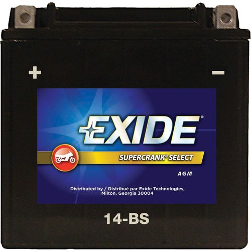 Image for Exide Supercrank Select  12V Premium VRLA (AGM) Powersport Battery from Academy