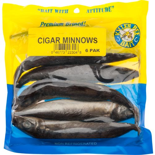 KILLER BEE BAIT Brined Cigar Minnows 6-Pack