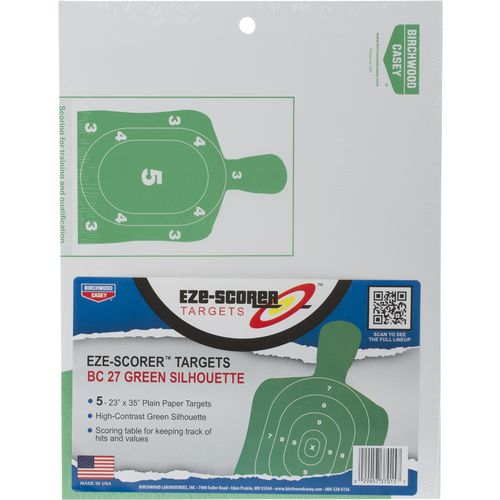 Display product reviews for Birchwood Casey® Eze-Scorer™ BC-27 Green Paper Targets 5-Pack
