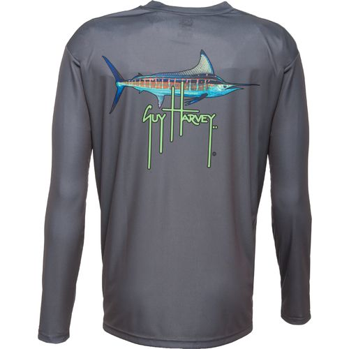 Guy Harvey Men s Basic Striper Long Sleeve Performance T-Shirt