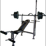 CAP Barbell Combo Bench with 80 lb. Weight Set