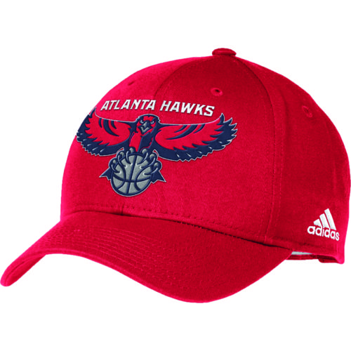 adidas Adults' Atlanta Hawks Structured Adjustable Cap