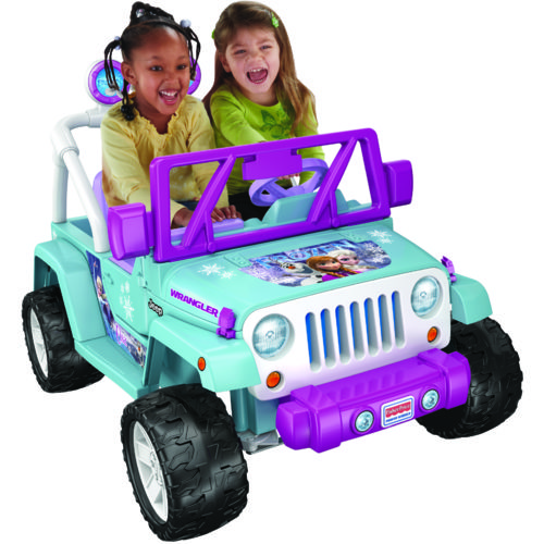 Fisher-Price Girls' Power Wheels Disney Frozen Jeep 12V Ride-On