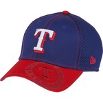 New Era Men's Texas Rangers Logo Crop Neo 2 39THIRTY Stretch Fit Cap