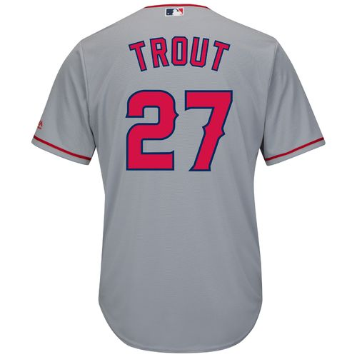 Majestic Men's Los Angeles Angels Mike Trout #27 Cool Base® Replica Jersey - view number 1