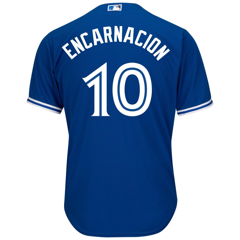 Majestic Men's Toronto Blue Jays Edwin Encarnacion #10 Cool Base Replica Jersey