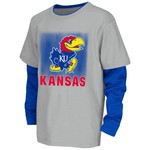 Colosseum Athletics Kids' University of Kansas Flanker Long Sleeve Layer T-shirt