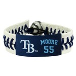 GameWear Adults' Tampa Bay Rays Matt Moore Genuine Jersey Bracelet