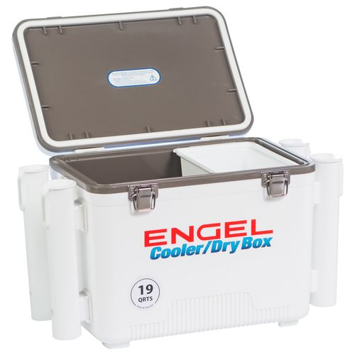 Engel 19 qt. Cooler/Dry Box with Rod Holders - view number 4