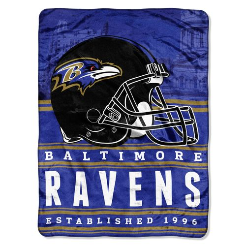 The Northwest Company Baltimore Ravens Stacked Silk Touch Throw