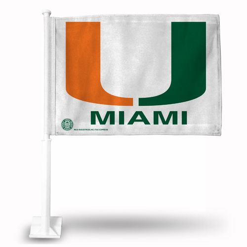 Rico University of Miami Car Flag