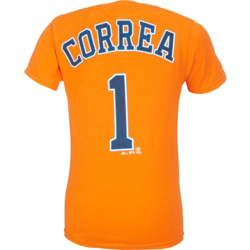 Majestic Boys' Houston Astros Carlos Correa #1 Cotton T-shirt