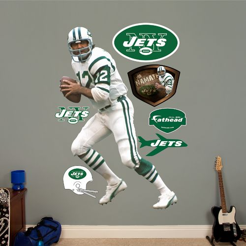 Fathead New York Jets Joe Namath Real Big