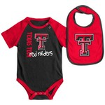 Colosseum Athletics Infants' Texas Tech University Rookie Onesie and Bib Set