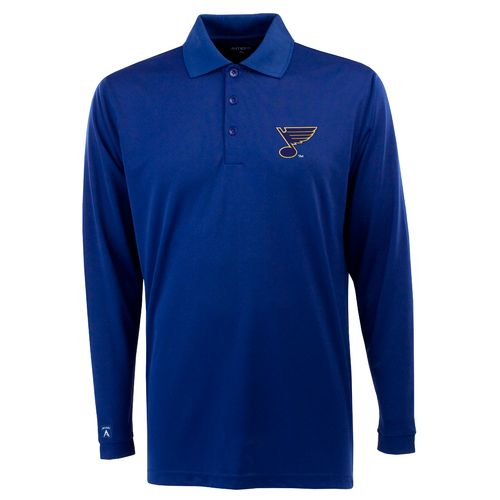 Antigua Men's St. Louis Blues Exceed Long Sleeve Polo Shirt