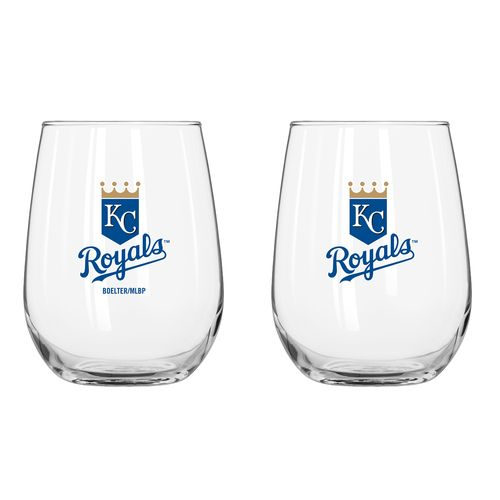 Boelter Brands Kansas City Royals 16 oz. Curved Beverage Glasses 2-Pack