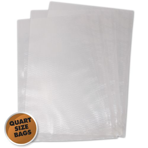 "Weston 8"" x 12"" Quart Size Vacuum Bags 100-Pack"