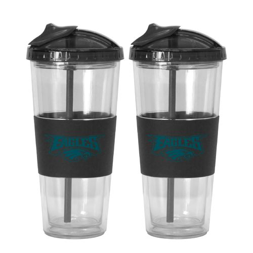 Boelter Brands Philadelphia Eagles 22 oz. No-Spill Straw Tumblers 2-Pack - view number 1