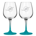 Boelter Brands Miami Dolphins 12 oz. Wine Glasses 2-Pack - view number 1
