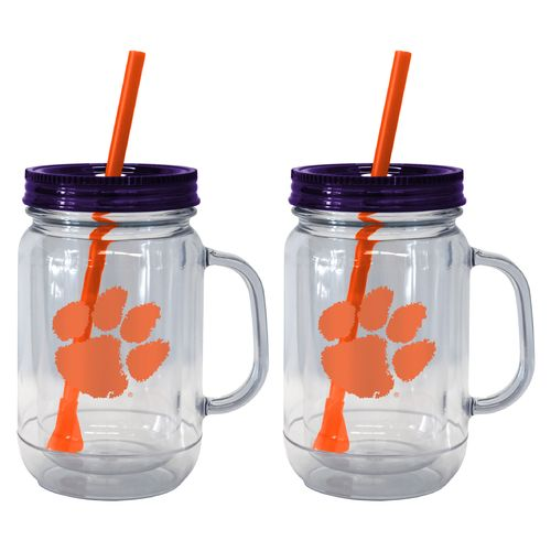 Boelter Brands Clemson University 20 oz. Handled Straw Tumblers 2-Pack - view number 1