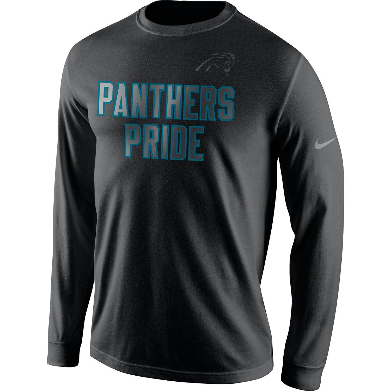 Nike Men's Carolina Panthers Reflective Long Sleeve T-shirt