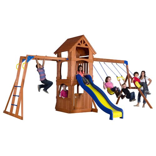 backyard discovery tanglewood wooden swing set academy