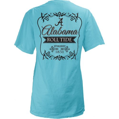 Three Squared Juniors' University of Alabama Flora T-shirt