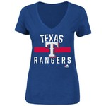 Majestic Women's Texas Rangers One Game At A Time T-shirt