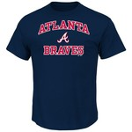Majestic Men's Atlanta Braves Heart and Soul T-shirt - view number 1