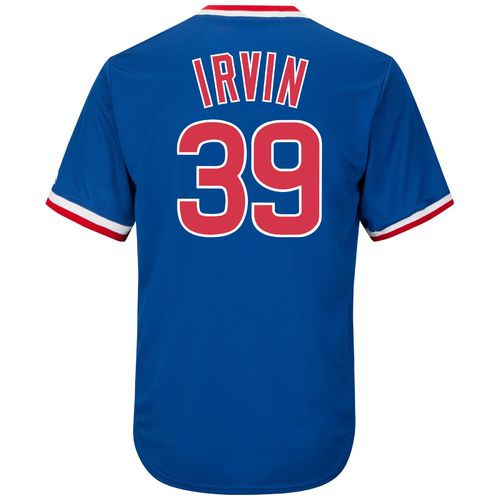 Majestic Men's Chicago Cubs Monte Irvin #39 Cooperstown Cool Base 1968-69 Replica Jersey