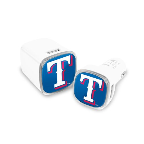 Mizco Texas Rangers Car and Wall Charger Set