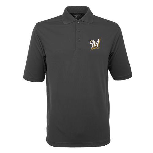 Antigua Men's Milwaukee Brewers Exceed Polo Shirt