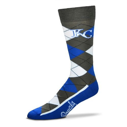 FBF Originals Men's Kansas City Royals Argyle Zoom Dress Socks