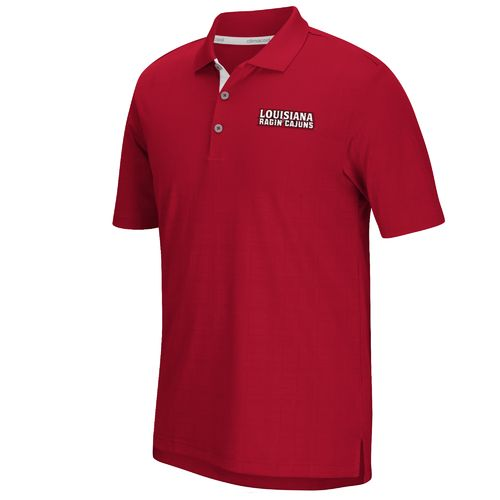 adidas™ Men's University of Louisiana at Lafayette climacool® Grid Texture Polo Shirt