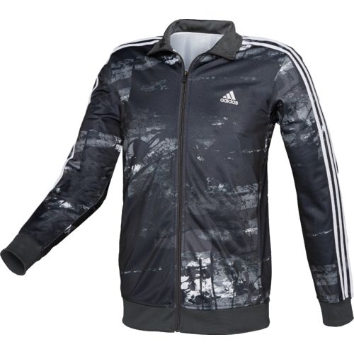 adidas Men's Essentials Elemental Raw Print Track Jacket - view number 2