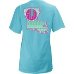Three Squared Juniors' Southeastern Louisiana University Moonface Vee T-shirt