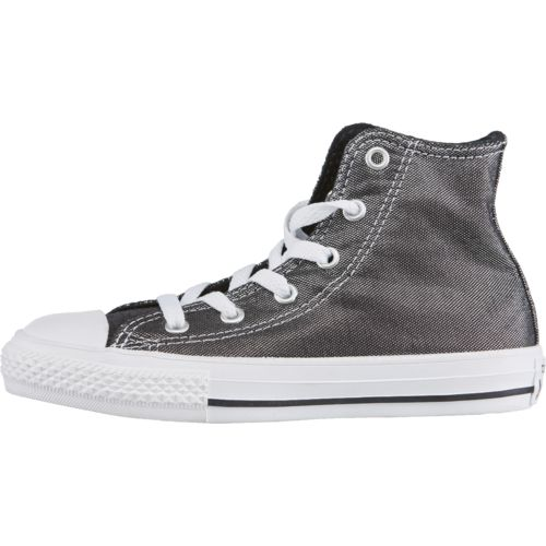 Converse Girls' Chuck Taylor All Star Hi Shimmer Shine Shoes
