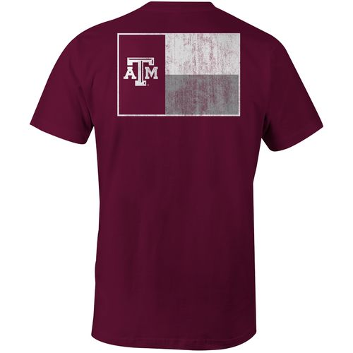 Image One Men's Texas A&M University State Flag Comfort Color T-shirt