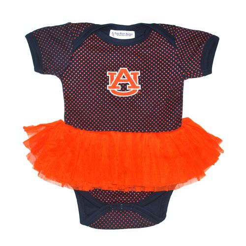 Two Feet Ahead Infant Girls' Auburn University Pin Dot Tutu Creeper