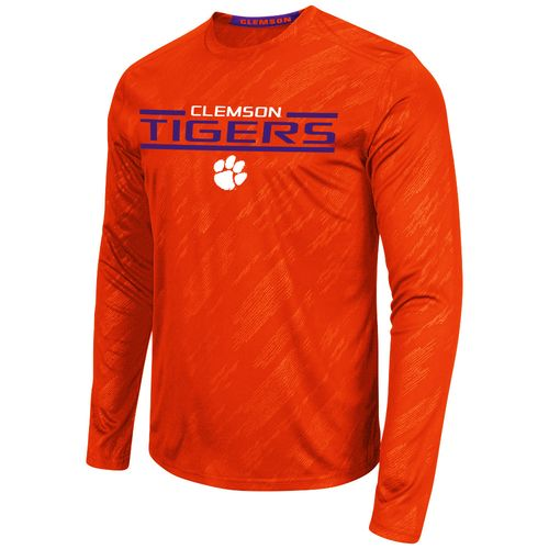 Colosseum Athletics™ Men's Clemson University Sleet Embossed Long Sleeve T-shirt