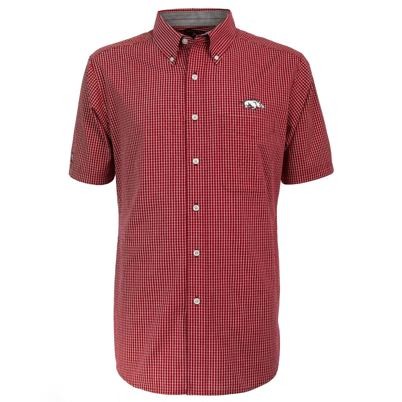 Antigua Men's University of Arkansas League Short Sleeve Shirt