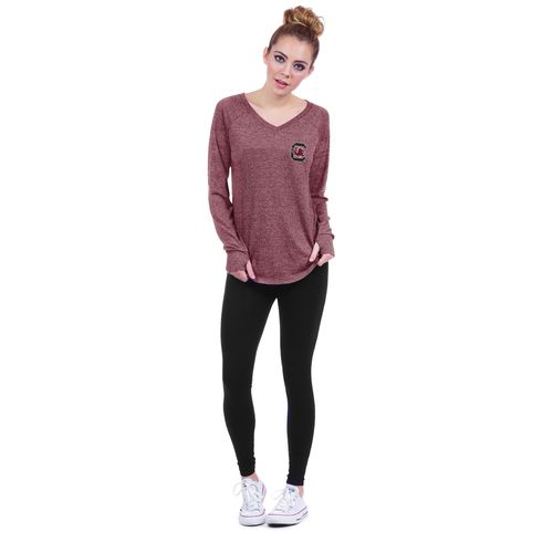 Chicka-d Women's University of South Carolina Favorite V-neck Long Sleeve T-shirt - view number 3