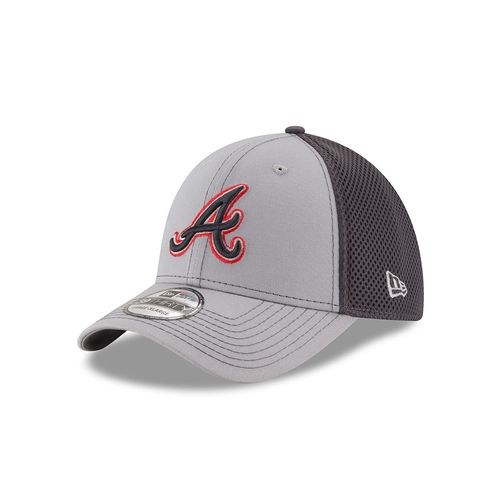 New Era Men's Atlanta Braves 39THIRTY Grayed Out Neo 2 Cap