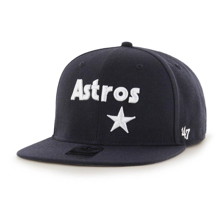 '47 Houston Astros Cooperstown Captain Script Cap