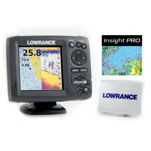 Display product reviews for Lowrance Hook-5 Mid/High/Downscan Fishfinder/Chartplotter with Insight Pro
