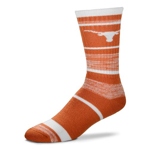For Bare Feet Men's University of Texas Stripe Athletic Crew Socks